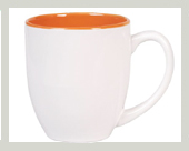 Tasse mug extra BIG mit werbeaufdruck orange