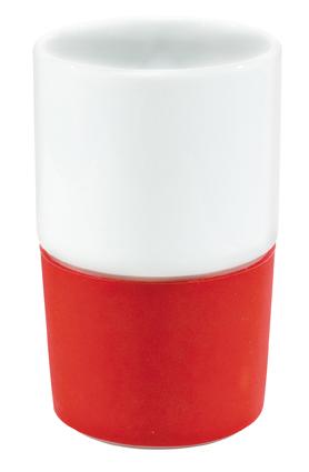 rot rote keramik porzellan becher tassen mugs f r firmen handel gewerbe. Black Bedroom Furniture Sets. Home Design Ideas