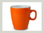 automaten becher orange