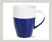 blau dunkelblaue keramik becher tassen mugs f r firmen. Black Bedroom Furniture Sets. Home Design Ideas