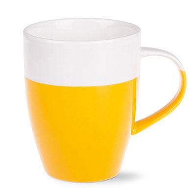 gelb gelbe keramik becher tassen mugs f r firmen. Black Bedroom Furniture Sets. Home Design Ideas